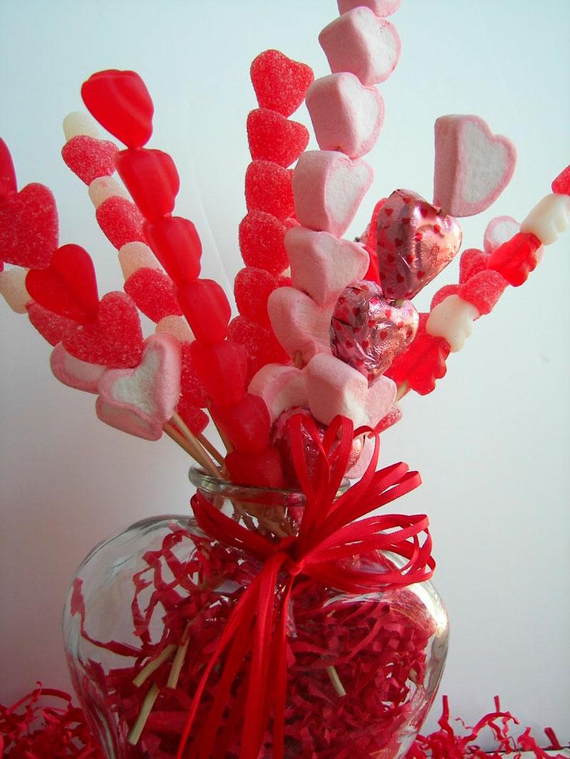 Сделать цветок из конфет своими руками фото