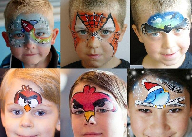 Аквагрим для детей своими руками идеи рисунков 4
